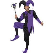 Kostým Dvorní šašek fialová/černá pro dospělé