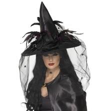Čarodějnický klobouk Se závojem