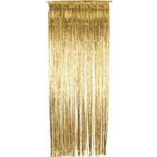 Závěs do dveří 91x244 cm zlatý