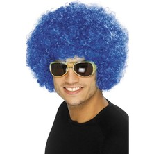 Paruka Funky Afro modrá