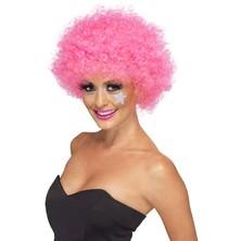 Paruka Funky Afro růžová