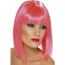 Paruka Glam neon růžová