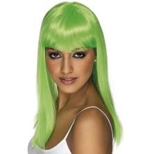 Paruka Glamourama neonově zelená