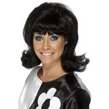 Paruka 60s Flick-Up černá