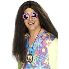 Paruka Hippie hnědá ll