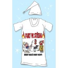 Noční košile s čepičkou Furt ve střehu