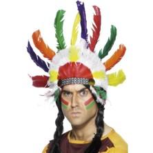 Indiánská čelenka Sedící býk