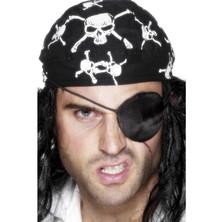 Pirátská páska přes oko satén
