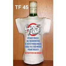 Tričko na flašku 45 Pětačtyřicet na tachometru