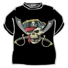 Tričko Pirátská lebka a šavle