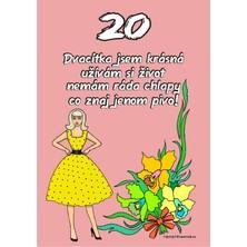 Certifikát 20 pro ženu