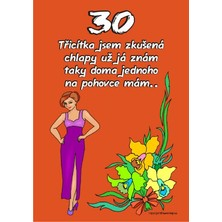 Certifikát 30 pro ženu
