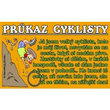 Průkaz Průkaz cyklisty